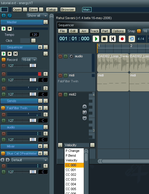Step 15 - Now, lets actually record the envelope to the CC lane of a MIDI track