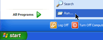 Step 03.1 - (Optional - to force Sony Vegas Cache Refresh) Launch the 'Run' Command from the start menu