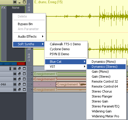 Step 01 - Insert the Dynamics plug-in on your audio track