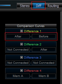 Step 09 - Open the diff view and select the difference between the curves after and before