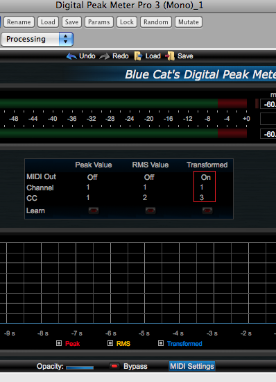 Step 07 - In the DPMP, enable the transformed envelope MIDI output and setup the MIDI CC channel and number