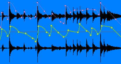 Step 10 - You can also choose to record these envelopes on a given track to monitor its stereoness right on top of the waveform