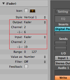 Step 12 - Click on the fader and configure it to map source and destination parameters (Choose Fader type for in and out)