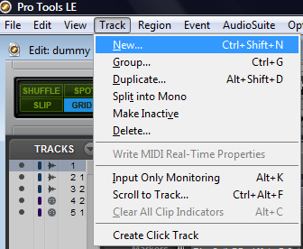 Step 03 - Create a new track