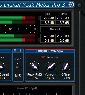 Step 13 - You can now tweak the response curve of the transformed envelope to modify the way the side chain is controlled